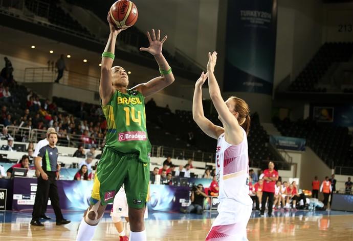 erika  brasil x espanha basquete mundial (Foto: Divulgação/FIBA)