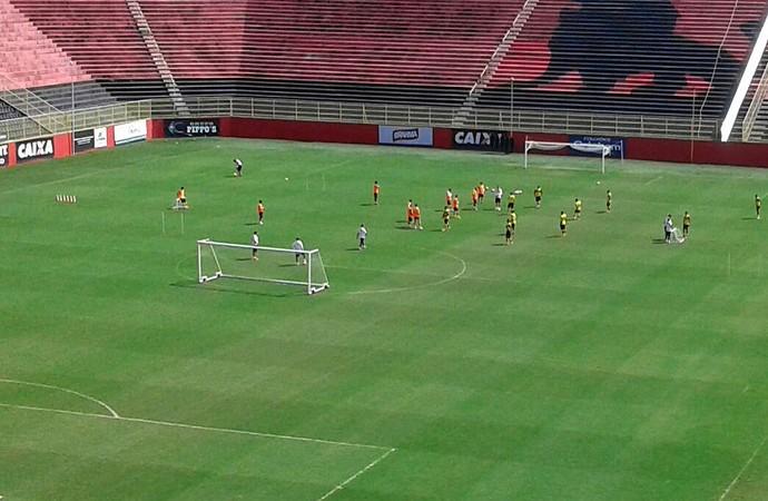 Vitória; treino; Barradão (Foto: Ruan Melo)
