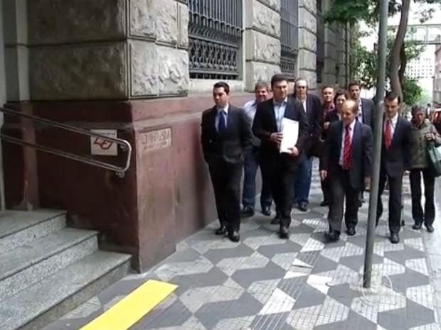 Deputados de Itu pedem intervenção estadual por causa da crise da água (Foto: Reprodução/TV TEM)
