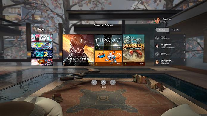 Rift tem vantagem na oferta de conteúdo (Foto: Divulgação/Oculus)