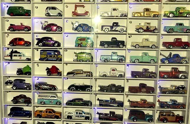 Coleção de carrinhos do motorista Cecílio Bolanho Filho, de São Paulo (Foto: Luciano Calafiori/G1)