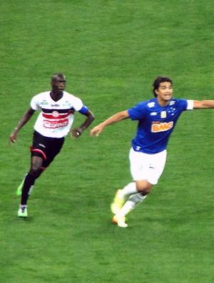 Marcelo Moreno jogo Cruzeiro x Santa Rita Copa do Brasil (Foto: Tarcisio Neto)