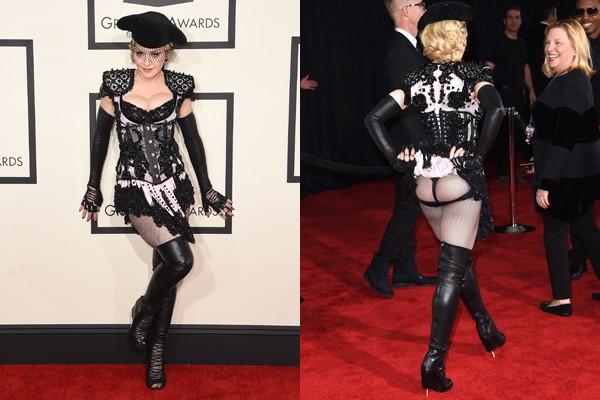 Madonna surgiu com o bumbum de fora no Grammy  (Foto: Getty Images)