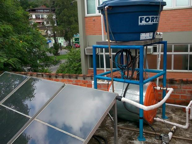 A economia de energia elétrica acontece através da planta solar (Foto: Gelson Pasetti/Arquivo Pessoal)