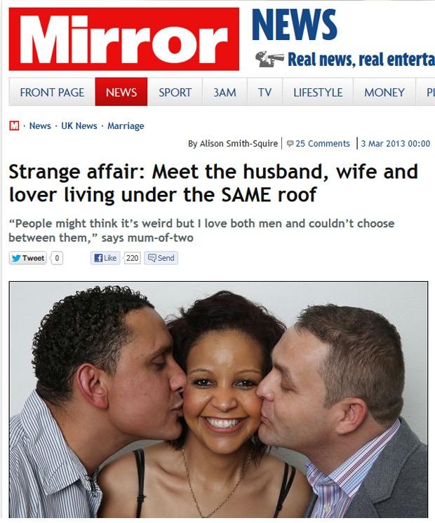 Paul, Maria e Peter afirmam conviver em harmonia debaixo do mesmo teto (Foto: Reprodução)