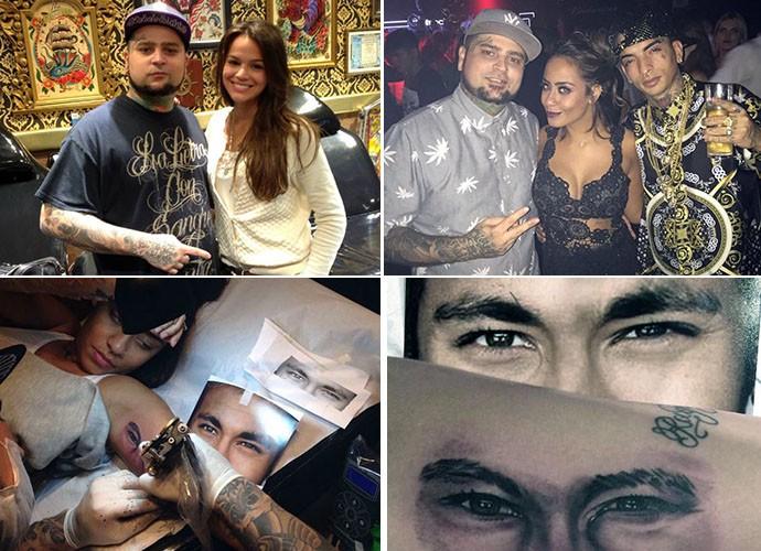 Adão é amigo de Neymar, MC Guimê e fez tatuagens em Bruna Marquezine e na Rafaella, irmã do jogador (Foto: Arquivo Pessoal)