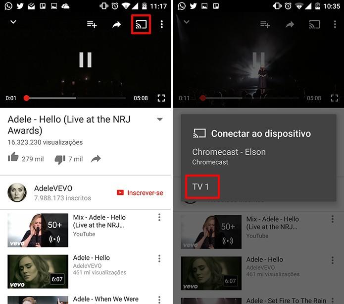 Como conectar o app do YouTube no celular à smart TV