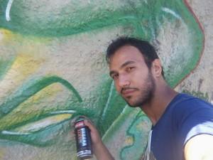 Clyaton Tomaz grafite Uberaba (Foto: Clayton Tomaz/ Arquivo Pessoal)