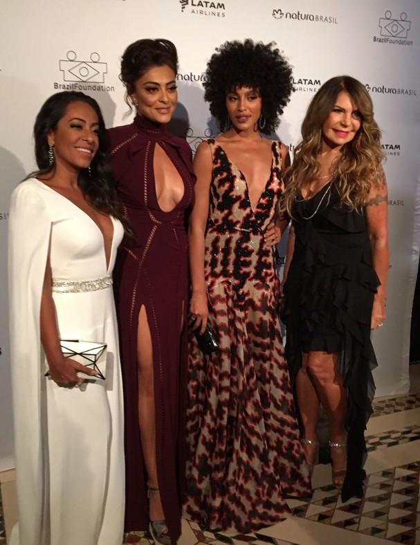 Brasileiras no gala do Brazil Foundation, em Nova York (Foto: Rogéria Vianna)