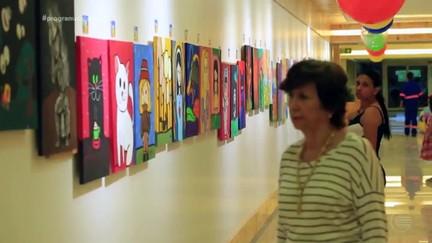 Exposição solidária reúne artes feitas por crianças para ajudar outras