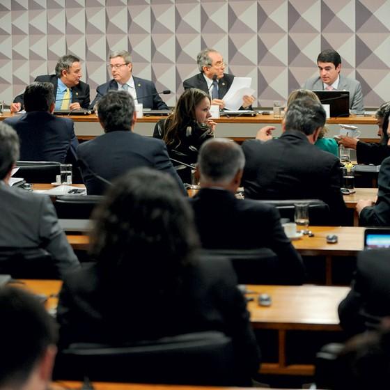 eSessão da comissãospecial do impeachment no Senado Federal (Foto: Andressa Anholete/FramePhoto/Folhapress)
