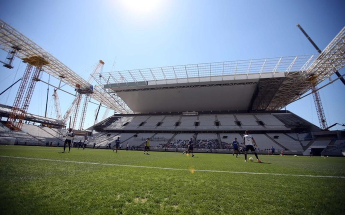 Arena Corinthians, treino Corinthians (Foto: Marcos Ribolli)