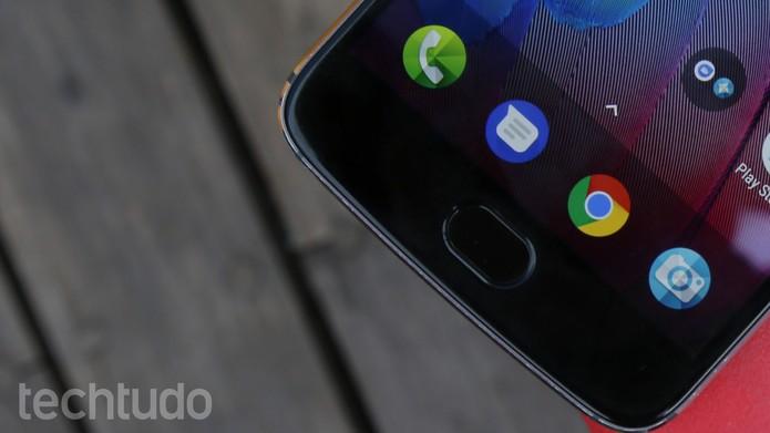 Leitor biométrico do Moto G5S apresentou falhas na leitura durante nossos testes (Foto: Ana Marques/TechTudo)