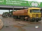 Integrantes do MST liberam cancelas do pedágio em São Miguel do Iguaçu