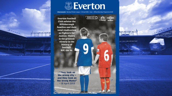 BLOG: Everton dedica programa de jogo para as vítimas da tragédia de Hillsborough