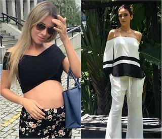 Para grávidas e mulheres clássicas: ex-BBB Adriana Santana e Carol Celico (Foto: Reprodução do Instagram)