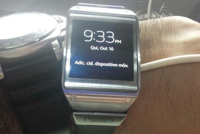 caeef0d56bb Galaxy Gear foi o primeiro smartwatch lançado pela Samsung (Foto  Divulgação )