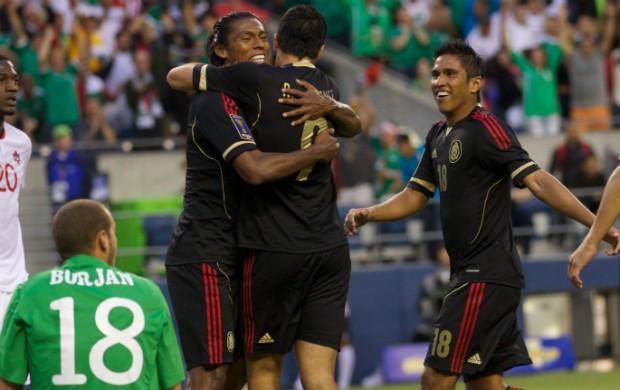 comemoração México 2 x 0 Canadá Copa Ouro (Foto: EFE)