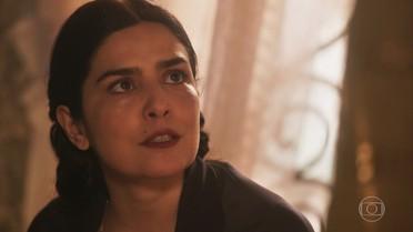 Delfina repreende Tereza por lamentar a ausência de Maria Vitória e sua filha