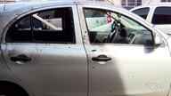 Uber roubado no ES termina com 20 marcas de tiros após perseguição