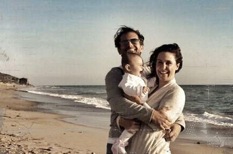 Guilhermina Guinle com a filha, Minna, e o marido, Leonardo Antonelli (Foto: Arquivo pessoal)