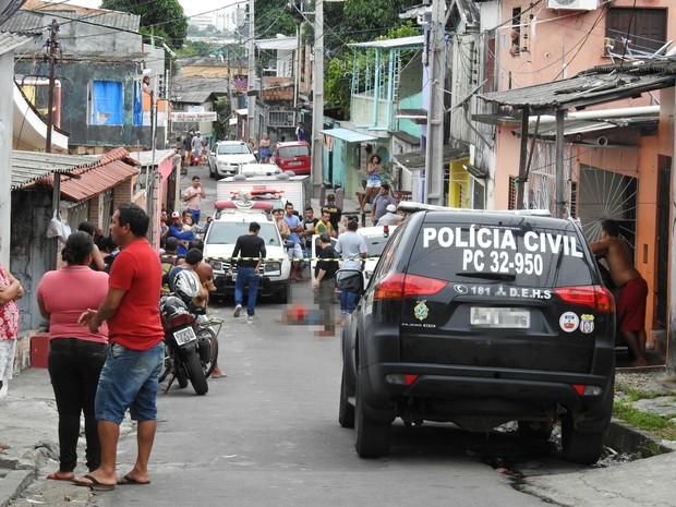 Crime ocorreu na manhã desta quinta-feira (16) (Foto: Suelen Gonçalves/ G1 AM)