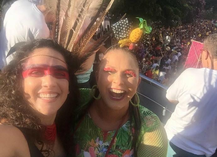 Márcia Novo conheceu Fafá de Belém (Foto: Arquivo Pessoal)
