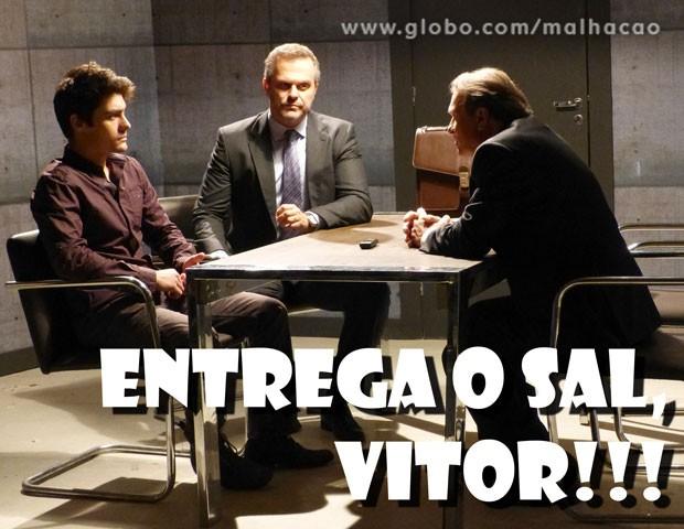 Vitor segue protegendo Sal (Foto: Malhação / TV Globo)