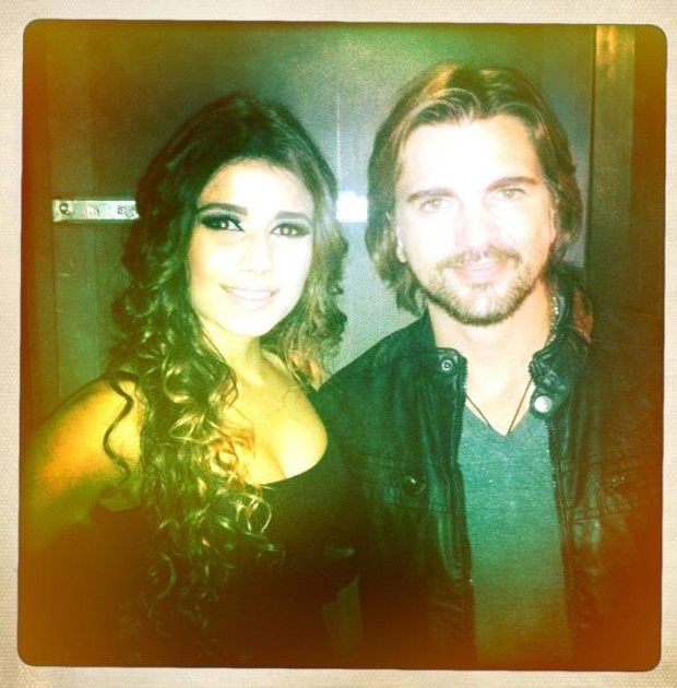 Paula Fernandes e Juanes (Foto: Instagram/Reprodução)