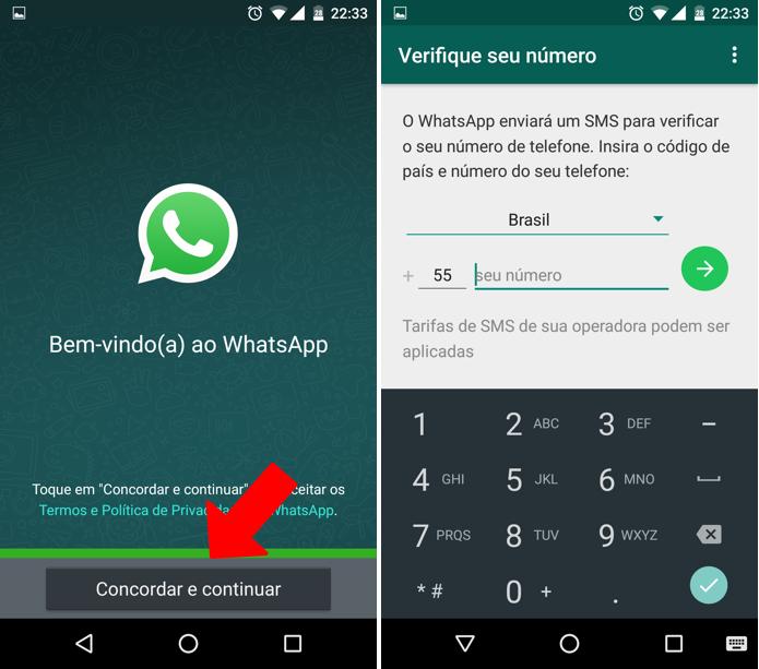Configure uma segunda conta no WhatsApp (Foto: Reprodução/Paulo Alves)