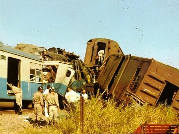Trens se chocaram em 8 de junho de 1972 (Foto: Reprodução/ O Diário)