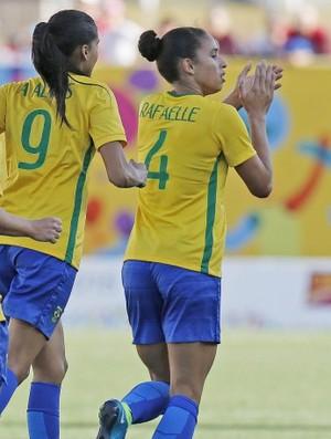 Rafaelle Brasil Feminino Futebol Pan (Foto: Rafael Ribeiro / CBF)