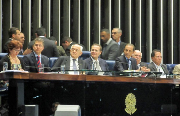 Senado faz sessão para discutir o projeto que regulamenta a terceirização no país (Foto: Rafaela Brito / G1)
