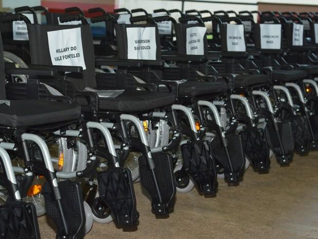 600 cadeiras de rodas foram entregues em Roraima (Foto: Divulgação/Secom-RR)