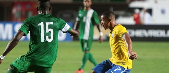 Gabriel Jesus Brasil x Nigéria seleção olímpica (Foto: Agência Estado)