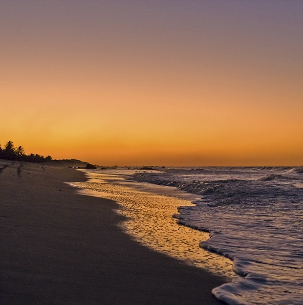 Pôr do sol na beira do mar de Gostoso (Foto: Divulgação)