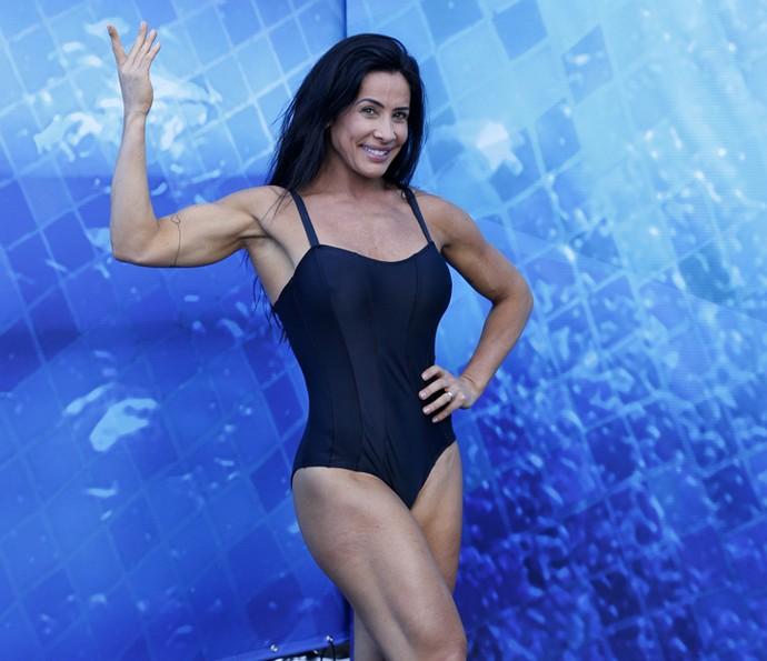 Scheila Carvalho exibe o pernão definido e o bíceps (Foto: Ellen Soares / Gshow)