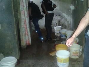 Agentes descobriram o túnel durante uma vistoria, neste sábado (21) (Foto: Divulgação/Agentes penitenciários)