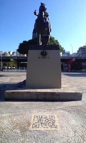 Estátua de D. João VI na Praça XV ganha QR code (Foto: Divulgação/ MS Comunicação)