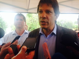 Prefeito Fernando Haddad (Foto: Olívia Florência/G1)