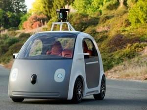 Carro do Google tem capacidade para duas pessoas e não vem com volante ou pedais (Foto: Divulgação/Google)