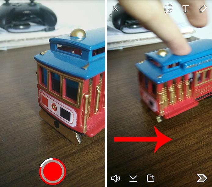 Snapchat possui novos filtros que alteram a velocidade do vídeo no Android e iOS (Foto: Reprodução/Elson de Souza)