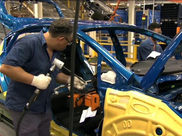 Produção de veículos / carros / indústria / GloboNews / Gnews (Foto: GloboNews)