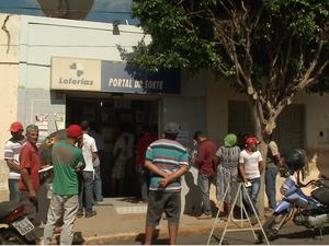 Ganhador da Quina fez aposta na única lotérica de Afrânio,  Sertão de PE (Foto: Reprodução / TV Grande Rio)