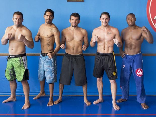 Rômulo e seus amigos mostram boa forma durante os treinos  (Foto: Felipe Monteiro/Gshow)