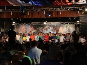 Covenção na qual José Melo foi oficialmente anunciado como candidato ao governo (Foto: Marcos Dantas/G1 AM)