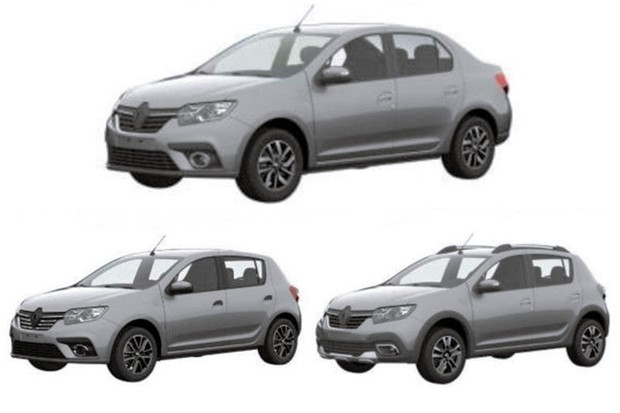 Patentes novos Renault Logan e Sandero (Foto: INPI)