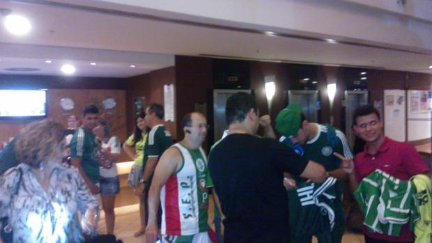 Torcida hotel Fortaleza Palmeiras (Foto: Juscelino Filho)