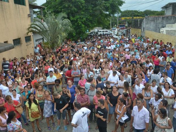 Mobilização aconteceu na tarde da última quarta-feira (Foto: Divulgação / Sindicato dos Servidores de Peruíbe)
