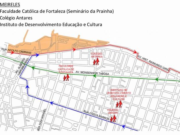 Modificações de trânsito no Bairro Meireles (Foto: Prefeitura de Fortaleza/Divulgação)